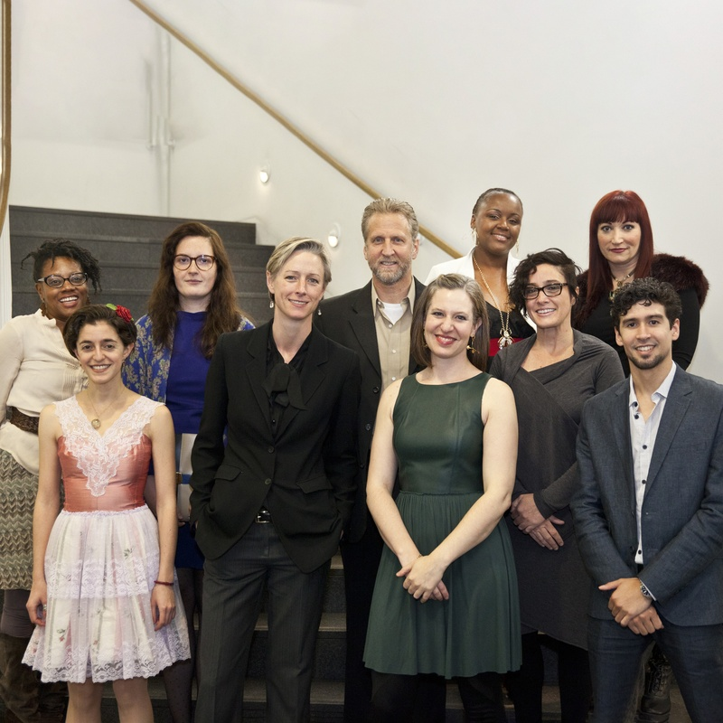 2013 3Arts Awardee portrait in front of stairs at the Museum of Contemporary Art