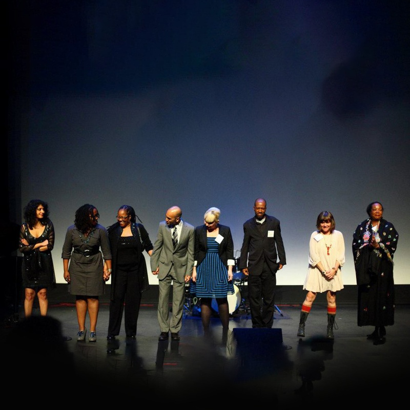 2011 3Arts Awardees on stage at the Museum of Contemporary Art