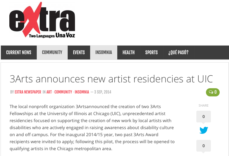 3Arts announces new artist residencies at UIC