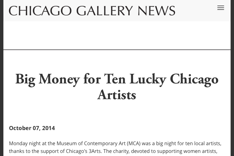 Big Money for Ten Lucky Chicago Artists